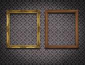 Dva rámeček obrázku na zdi — Stock fotografie