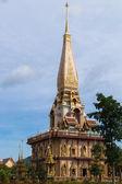 Holy pagoda at chalong temple, Phuket, Thailand — Stock Photo