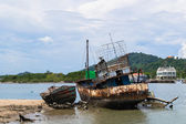 Old rusty fishing boat — Stock Photo