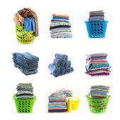 Stacks of clothing collection  — Stock Photo