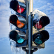 Frozen traffic light — Stock Photo #22702527