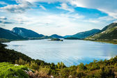 Bay in Croatia on a cloudy day with calm sea — Stock Photo