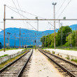 Two industrial railroad tracks — Stock Photo