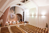 Large interior of modern church — Photo