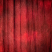 Red curtain ideal for backgrounds and textures — Stock Photo