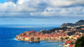 Panorama of Dubrovnik with Clouds Above — Stock Photo