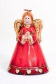 Estatueta de anjo orando e sorrindo — Foto Stock