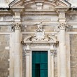 Stock Photo: Front view of entrance at Saint Ignatius Church in Dubrovnik old town.