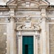 Front view of entrance at Saint Ignatius Church in Dubrovnik old town. — Stock Photo