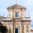 Front view of Saint Ignatius Church in Dubrovnik old town. — Stock Photo #26675739