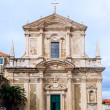 Front view of Saint Ignatius Church in Dubrovnik old town. — Stock Photo