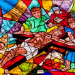 Stained glass showing Jesus crucifixion — Stock Photo #28239939