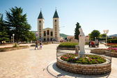 Medjugorje sanctuary and church — Stock Photo