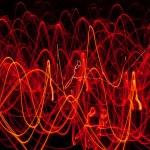 abstrakte Linien des Feuers — Stockfoto