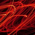 kreisförmigen Linien des Feuers — Stockfoto