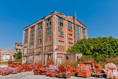 Old warehouse made of bricks — Stock Photo