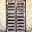 Stock Photo: Old rotting wooden window