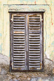 Old rotting wooden window — Stock Photo