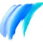 Watercolor brush strokes — Stock Photo