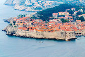 View of the old town of Dubrovnik on cloudy day — Stock Photo