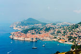 View of the old town of Dubrovnik on hazy day — Stock Photo