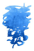 Unusual blue watercolor stain — Stock Photo