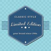 Distintivo vintage limited edition, progettato retrò — Foto Stock