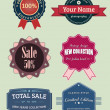 Collection vector labels and badges, vintage retro grunge set — Stock Vector