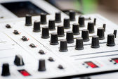 Close-up of sound mixer control panel — Stock Photo