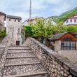 The historical part of the city of Mostar — Stock Photo