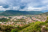 The view from high on the city of Mostar in Herzegovina — Stockfoto