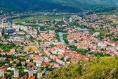The view from high on the city of Mostar — Stockfoto