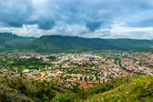 The view from high on the city of Mostar — Stock Photo