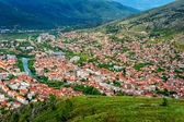 The view from high on the city of Mostar in Herzegovina — ストック写真