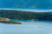 The view of the sea and islands in southern Croatia — Foto Stock