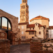 Scene from the old city of Split and the view of old bell tower  — Stock Photo #51542373