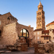 Scene from the old city of Split and the view of old bell tower — Stock Photo #51542399