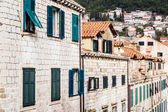 Case nella città vecchia di dubrovnik — Foto Stock