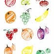 Royalty-Free Stock Vector Image: Set vegetables and fruit