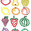Royalty-Free Stock Vector Image: Fruit circles