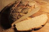 Rustic artisan bread loaf - cob — Stock Photo