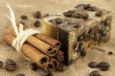 Spa coffee setting — Stock Photo