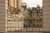 Palace gates in Rundale, Latvia — Stock Photo
