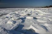 Vinterlandskap vid kusten — Stockfoto