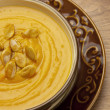 Pumpkin cream soup - Stock Photo