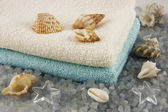 Spa composition with bath towels — Stock Photo
