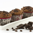 Chocolate muffins — Stock Photo #24860683