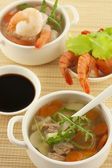 Bowl of fresh seafood soup — Stock Photo
