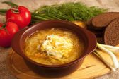 Sour cabbage soup — Stock Photo