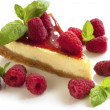 Raspberries cheesecake — Stock Photo